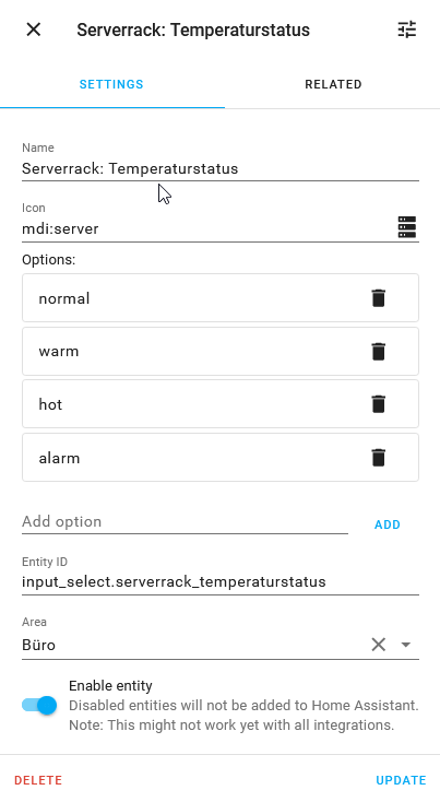 Helper zur Speicherung des Temperatur-Status