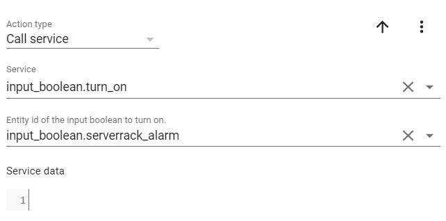 Optischen Alarm starten