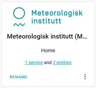 Home Assistant Integration des Meteorologisk institutt