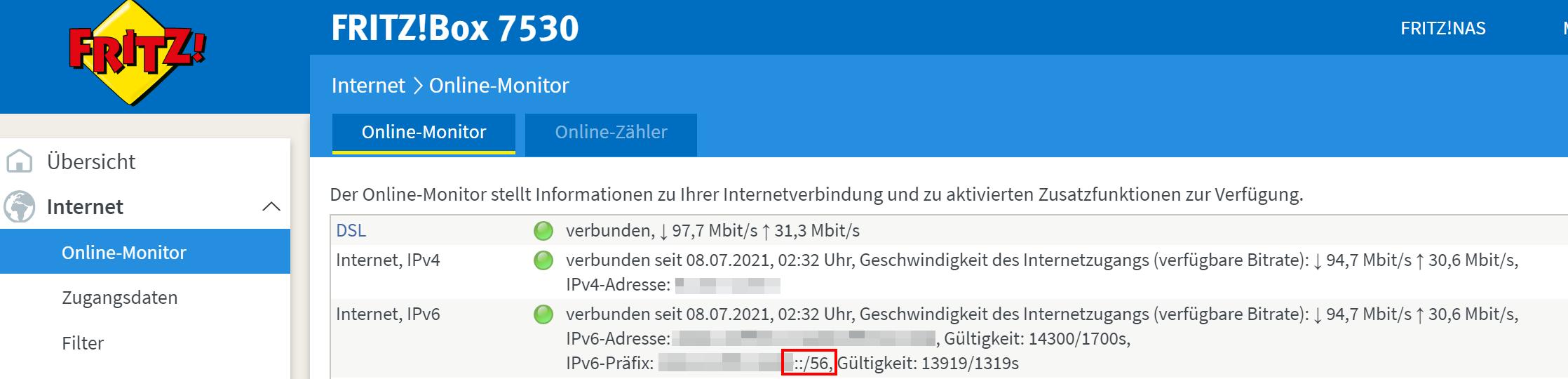 IPv6-Präfix ermitteln